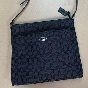 COACH Signature Crossbody Bag Black/Gray